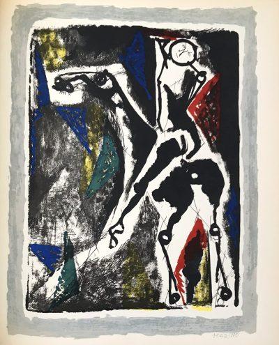 Marino Marini 2, Acrobat, Heliogravure 1960