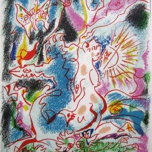 Andre Masson Pencil Signed Original Lithograph 1968, Les incertitudes de Psyche