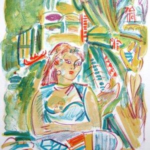 Andre Planson, Pencil Signed Original Lithograph, Ann de Saint-Jean 1968