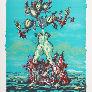 Lucien Coutaud, Signed Original Lithograph, Quatre Mille Nuits, 1968