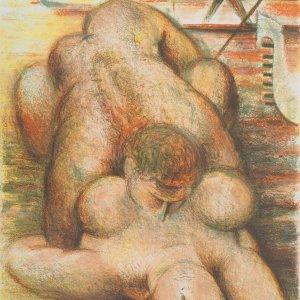 Blasco Mentor, Pencil Signed Original Lithograph, Venue adriatique 1968