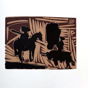 Pablo Picasso 43, Linogravures Avant la pique 1962