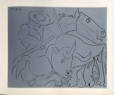Pablo Picasso 18, Linogravures La pique cassee 1962