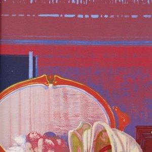 Leonardo Cremonini, Pencil Signed Original Lithograph, De l'autre côte du miroir 1968
