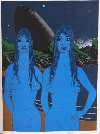 Felix Labisse, Pencil Signed Original Lithograph, Les Miracles 1968
