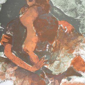 Michel Rodde, Pencil Signed Original Lithograph, Gestes pour l'amour 1968