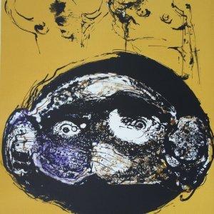 Bernard Dufour, Pencil Signed Original Lithograph, L'ecran 1972