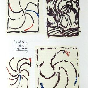 Alechinsky Lithograph, DM3247 Derriere le Miroir
