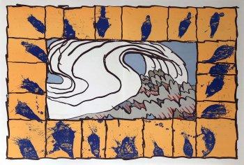Pierre Alechinsky Lithograph, DM5247, Derriere le Miroir 1981