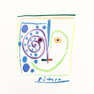 Pablo Picasso Lithograph 77, This is my Heart 1968