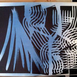 Hans Hartung Lithograph Farandole 14, Signed & numbered 1971