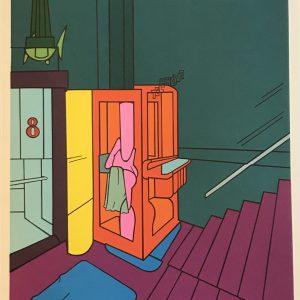 Adami Valerio, Original Lithograph, DM07188, Derriere le Miroir 1970