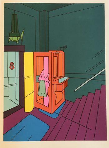 Adami Lithograph, DM07188, Derriere le Miroir 1970