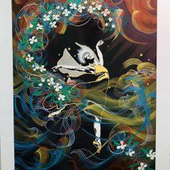Pattinson , Pencil Signed Serigraph Embellished, Modern Surrealist