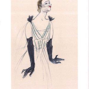 Toulouse Lautrec Lithograh 32, Yvette Guilbert