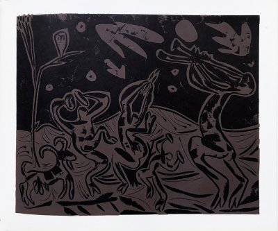 Pablo Picasso 33, Linogravures Les Danseuses au hibou, 1962