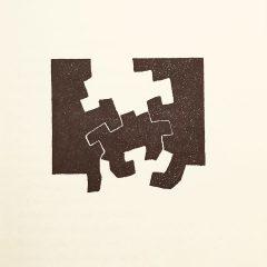 Eduardo Chillida Lithograph 4, Maeght Editeur 1975,   Abstract Expressionism