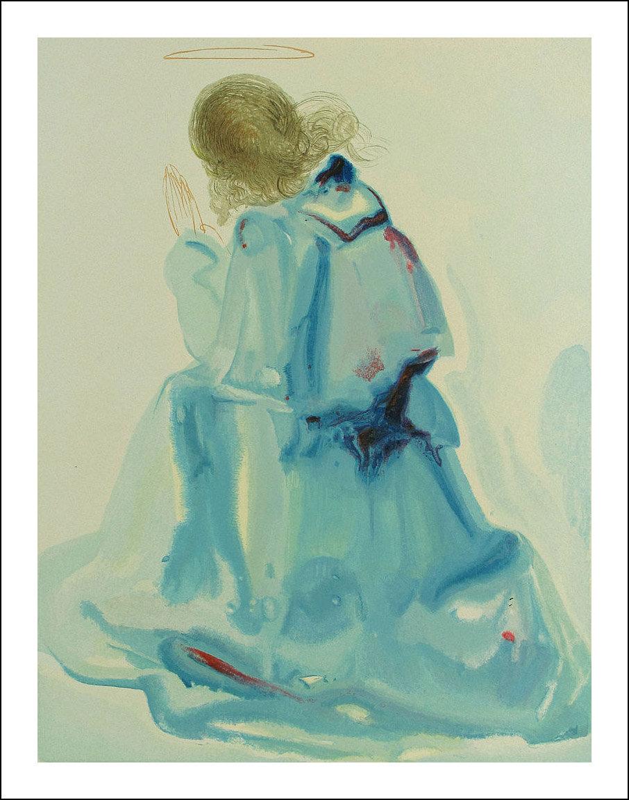 Salvador Dali, Original Woodcut, Paradise 2, Divine Comedy