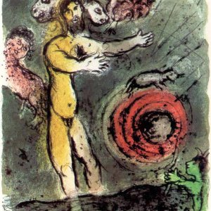 Marc Chagall Odyssey 1, Lithograph Proteus 1989