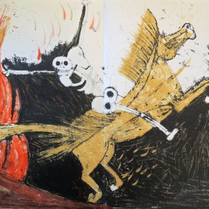 Tamayo Lithograph 15d, Apocalypse of Saint John