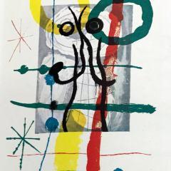 Joan Miro, Original Lithograph, DM03151, Derriere le Miroir 1970