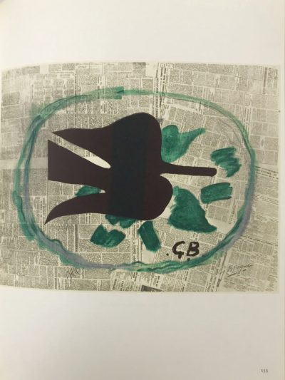 """Braque Lithograph """"l'oiseau dans le feuillage""""1963 peinted Mourlot"""