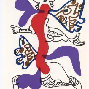 Charles Lapicque Original Lithograph XX Siecle 1974