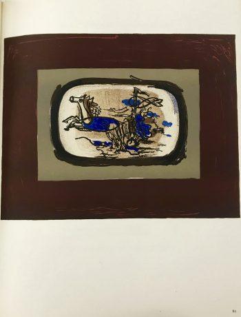 """Braque Lithograph """"Le char 2"""" 1963 Mourlot"""
