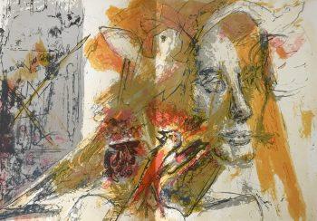 """Pierre Parsus Original Lithograph """"Le petit joueur de fluteau"""""""