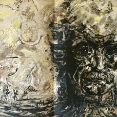 """Pierre Parsus Original Lithograph """"Untitled"""""""