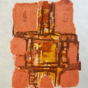 """Orlando Pelayo """"4"""" Original Lithograph 1962, Mourlot"""