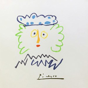 Pablo Picasso Lithograph 15, King of the South -1