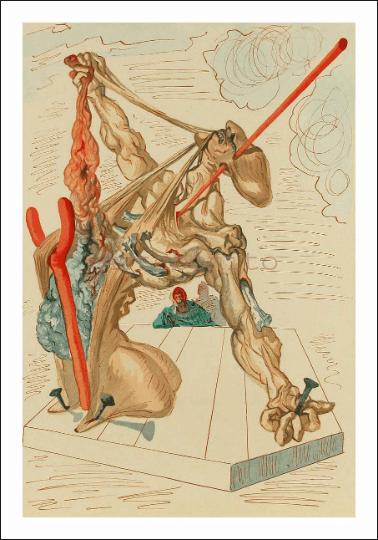 Salvador Dali, Hell 29, Woodcut, Divine Comedy