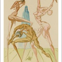 Salvador Dali, Hell 26, Woodcut, Divine Comedy