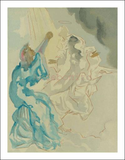 Salvador Dali, Paradise 5, woodcut, Divine Comedy