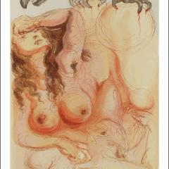 Salvador Dali, Purgatory 9, Woodcut, Divine Comedy