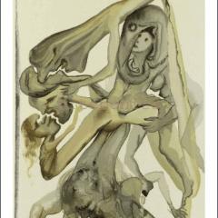 Salvador Dali, Hell 4, Woodcut, Divine Comedy