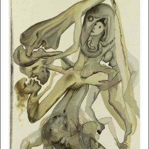 Salvador Dali Woodcut, The limbos - Hell 4
