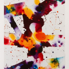 Sam Francis Poster Exhibition for Pasadena Museum of California Art & Crocker Art Museum Sacramento, Mid-century Modern