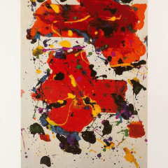 Sam Francis poster developed 1982 for Santa Monica Arts Foundation, Mid-century Modern, art print poster, wall art Décor