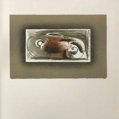 """Braque Lithograph """"Theiere au fond gris"""" 1963 Mourlot"""