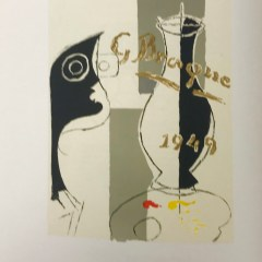 "Georges Braque Lithograph ""Une aventure methodique"" 1963 Mourlot"