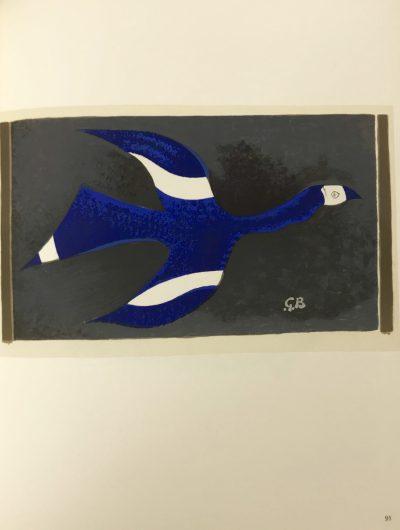 """Braque Lithograph """"Vol de nuit"""" 1963 Mourlot"""
