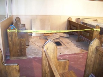 Replacing the Nave Flooring