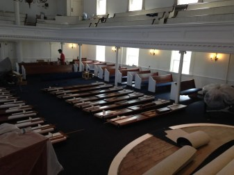 Pews Being Assembled