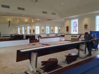 Installation of new pews photo9