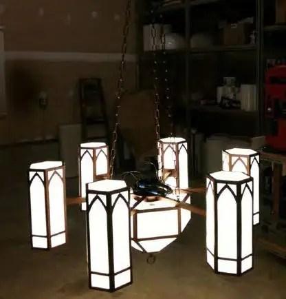 Shop Photo of Chandelier illuminated