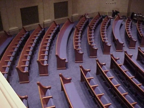Temple Israel, Minneapolis, top view of seating MVC-006F