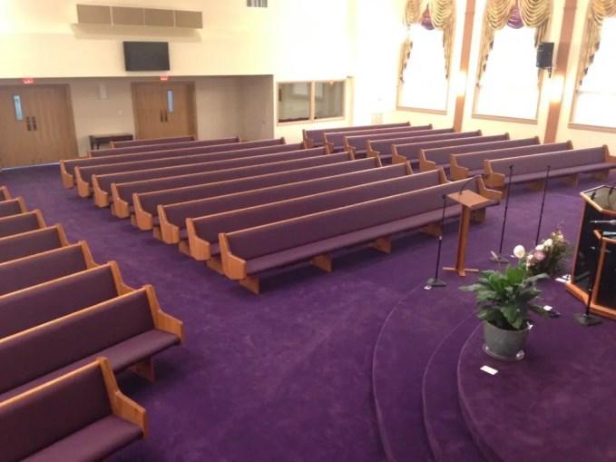 New Pews and Carpet