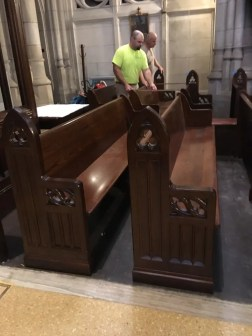 Installing custom pews to match existing